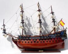 Schiffsmodell SANFELIPE , 80 cm Handarbeit Holz Rumpf bemalt, fertig montiert