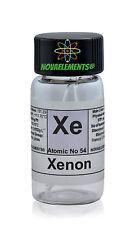 Xenon gas element 54, Xe-Probe 99,9% mini-Ampullen und Fläschchen mit Etikett