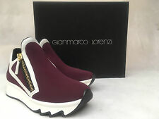 Gianmarco Lorenzi Bordeaux Trainer Shoes. A6D1O1598. Size 35. RRP £290.