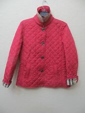 Burberry Brit Womens Copford Light Crimson heritage diamond quilted jacket Size