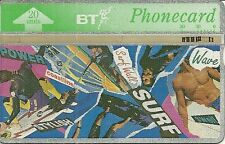 RARE / CARTE TELEPHONIQUE ANGLAISE - SURF POWER WAVE SWELL STYLE POWER COAST