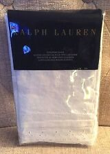 RALPH LAUREN HOME INDIGO MONTAUK EMBROIDERED LINEN BLEND EURO SHAM(1)~ WHITE