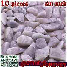 10 Sm Med 15mm Combo Ship Tumbled Gem Stone Crystal Natural - Aventurine White