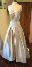 VEROMIA CHAMPAGNE WEDDING DRESS - SIZE 10