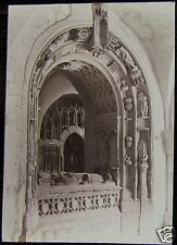 Glass Magic Lantern Slide CARDINAL MORTONS TOMB CANTERBURY DATED 1901 PHOTO KENT