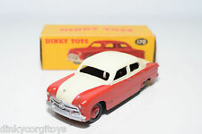 DINKY TOYS 170 FORD FORDOR SEDAN HIGHLINE RED CREAM NMINT BOXED RARE SELTEN RARO
