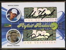 Ace Authentic Signature Tennis DUAL AUTO - MISCHA ZVEREV/MIKHAIL YOUZHNY #/35