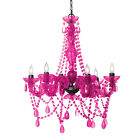 Three Cheers For Girls! 3C4G 6 Light Chandelier Lamp Hot Pink