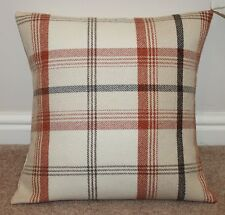 "PORTER & STONE BALMORAL TARTAN CHECK CUSHION COVER AUTUMN 18"" x 18"""