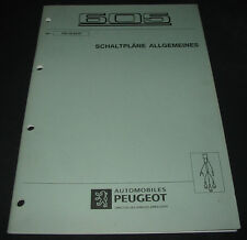 Werkstatthandbuch Peugeot 605 Elektrische Schaltpläne Allgemeines März 1997!
