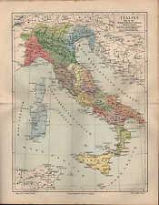 Landkarte map 1908: ITALIEN bis zur Zeit des Kaisers Augustus. Italia Italy