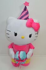 "Hello Kitty Greeter Party Hat Present Pink Jumbo Plush 28"" Momoberry NEW"