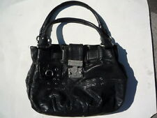 Juicy Couture black  leather with straps pocket book  Ex.condition WAS $500 NEW!