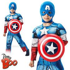 Deluxe Captain America + blindage Âge 5-6 robe fantaisie garçons avengers enfants costume