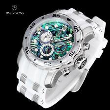 Invicta Men's 48mm Pro Diver Scuba Abalone Dial Quartz Chronograph Strap Watch