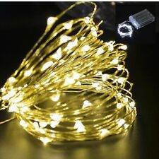 1/2/3/4/5/10m 100Leds String Fairy Light Battery Operated Xmas Lights Party New