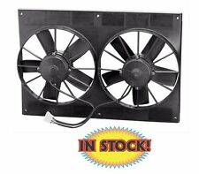 """Spal Electric Cooling Fan and shroud - Dual 11"""" Puller 2,750 CFM 30102052"""