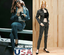 "1/6 Women Jacket Jeans Set B For 12"" Phicen Hot Toys Female Figure U.S.A. SELLER"