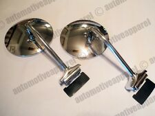RETRO STYLE CHROME SIDE DOOR MIRRORS CLASSIC TRUCK VAN JEEP HOTROD KIT