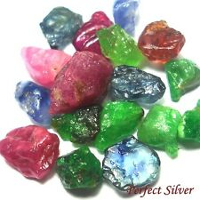10.75 ct. 17 P. Natural Rough Emerald Colombia Ruby & Blue Sapphire @ FREE SHIP
