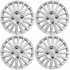 "Lightning White 14"" Car Wheel Trims Hub Caps Plastic Covers Universal (4Pcs)"