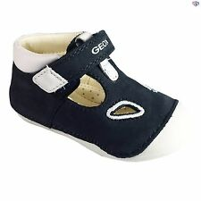 Geox B Tutim B. A Boys Navy / White Suede Leather Infant Shoes Size 19 20 21 22