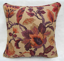 "Sanderson Fabric ~ ""Amanpuri"" Old Gold/Aubergine ~ Cushion Cover 100% Linen"