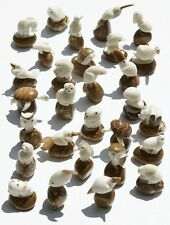 Lot 10 Animal Figurines Decorative Collectible Hand Carved Tagua Nut Carving Art