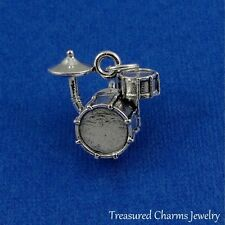 Silver DRUM SET Band Drummer CHARM PENDANT