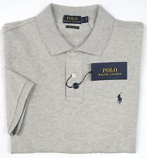 NWT Polo Ralph Lauren Heather Grey S/S Stretch Cotton Mesh Classic Shirt Size L