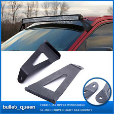 54inch Curved LED Light Bar Windshield Mounting Bracket For 04-14 Ford F150