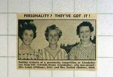 1957 Llandudno Competition Winners Glenda Evans, Mrs Leigh, Oldham And Mrs Nutta