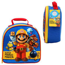 "SUPER MARIO MAKER 9"" Insulated Dome Lunch Bag Kids Boys Bag NEW"