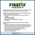 Firefly Music Festival Tickets 06/16/16 (Dover) One General Admission Ticket