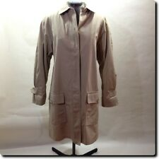 London Fog Classic Khaki Tan Trench Spy Coat with Zip Liner Outerwear 14