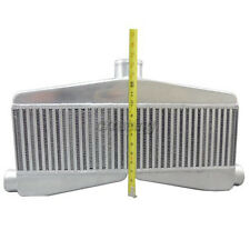 "CXRacing Universal 2in 1out TWin Turbo Intercooler 24""x7""x3.5"" Core Size"