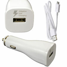 Genuine Samsung Galaxy S6 & S6 Edge Adaptive Fast USB 2A Rapid Car Charger White