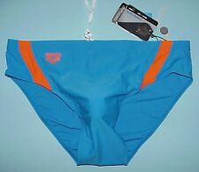 "NEW GENUINE ARENA BRAND BLUE & MANGO SWIM / DIVE / WATER POLO SUIT 36""-38"" WAIST"