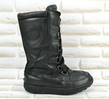 Timberland Waterproof Black Leather Womens Mid-Calf Snow Boots Size 4 UK 37 EU