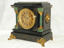Antique Seth Thomas 8 day time and strike adamantine mantel clock.