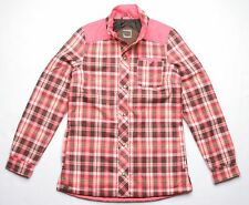 686 Women Parklan Dreamer Flannel Jacket (S) Coral Plaid