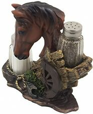 Horse Salt Pepper Shaker Set Table Dining Equine Housewarming Gift Ranch Farm