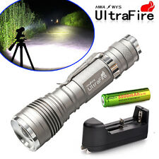 2000LM Cree XM-L T6 Zoomable Led Flashlight Torch Lamp +18650 Battery +Charger