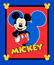 Disney Mickey Mouse Fabric - Mickey Mouse Character Blue Red CP58124 - PANEL