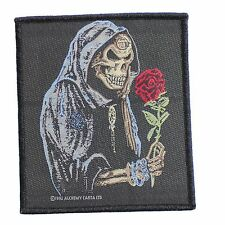 Black Rose Alchemist Sew-On Patch by Alchemy Gothic - Reaper - Skull