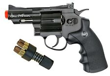 "Dan Wesson 2.5"" Revolver ASG Airsoft Gun CO2 Pistol BLACK 6 Shells & Speedloader"