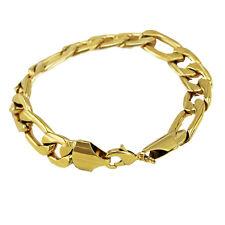 Luxury 11 mm width design 18 k Gold Plated Bracelet for Men Man Jewellery BB122