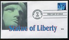 #3451 Statue of Liberty FDC WII Color Laser Cachet FD4144