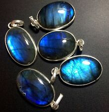 5 LABRADORITE 925 STERLING SILVER OVERLAY BABY PENDANT WHOLESALE LOT 2484