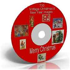 730 VINTAGE CHRISTMAS IMAGES ON CD DECOUPAGE CARDMAKING